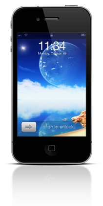 Aqua Moon 001 Apple iPhone 4 thumbnail