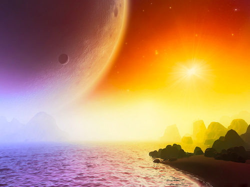Centauri Sunset 002 mobile wallpaper thumbnail