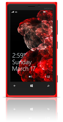 Abstract Cells 001 Nokia Lumia 920 RED thumbnail