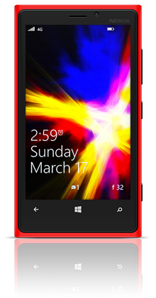 Abstract Fire 001 Nokia Lumia 920 RED thumbnail