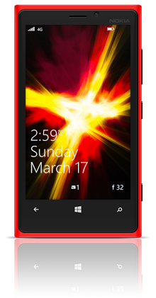 Abstract Fire 002 Nokia Lumia 920 RED thumbnail