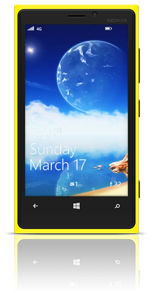Aqua Moon 001 Nokia Lumia 920 YELLOW thumbnail