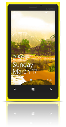 Prehistoric Bank 002 Nokia Lumia 920 YELLOW thumbnail